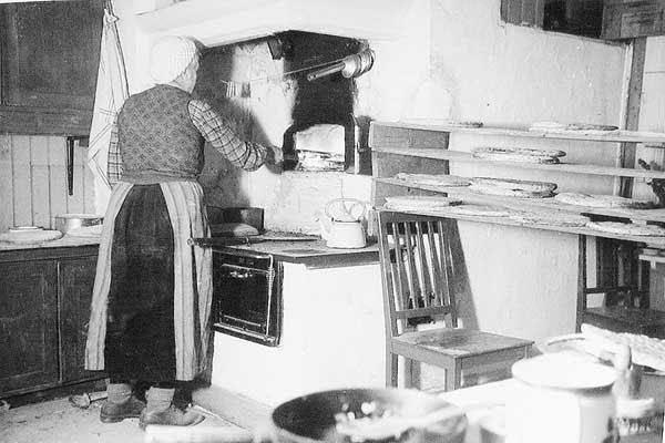Julbak i Lassesgården, 1940 talet.