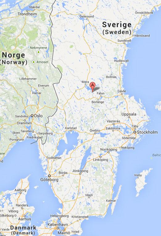 Karta Sverige Tibble Lycka Byar